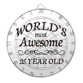 Años más impresionantes del mundo los 25 tabla dardos