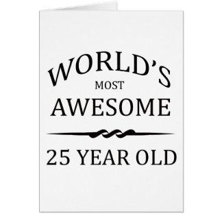Años más impresionantes del mundo los 25 felicitación