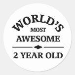Años más impresionantes del mundo los 2 pegatinas redondas