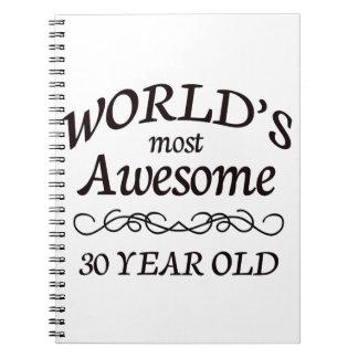 Años más impresionantes del mundo los 30 cuadernos