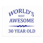 Años más impresionantes del mundo los 30 postal