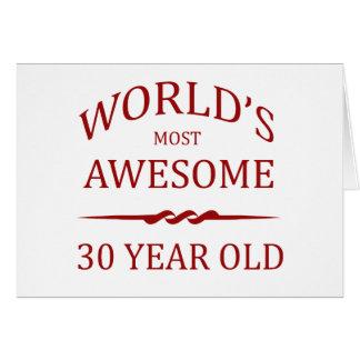 Años más impresionantes del mundo los 30 tarjeta de felicitación
