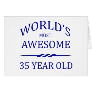 Años más impresionantes del mundo los 35 tarjeta de felicitación