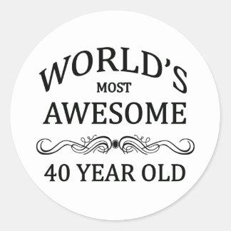 Años más impresionantes del mundo los 40 pegatina redonda