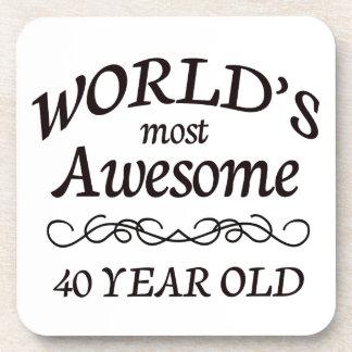 Años más impresionantes del mundo los 40 posavasos