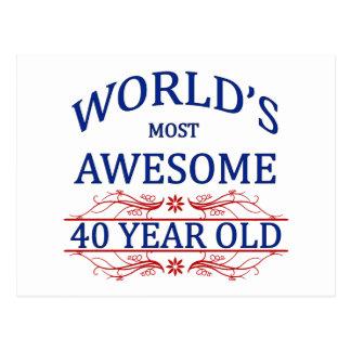 Años más impresionantes del mundo los 40 postal