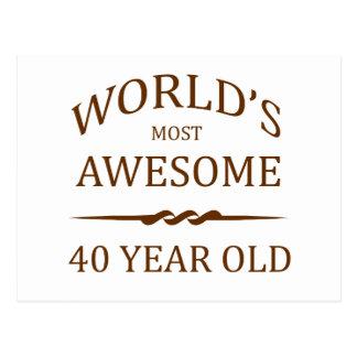 Años más impresionantes del mundo los 40. postales