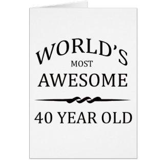 Años más impresionantes del mundo los 40 tarjeta de felicitación