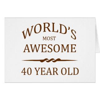 Años más impresionantes del mundo los 40. tarjeta de felicitación