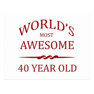 Años más impresionantes del mundo los 40 tarjeta postal