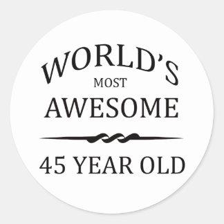 Años más impresionantes del mundo los 45 pegatina redonda