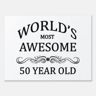 Años más impresionantes del mundo los 50 letreros