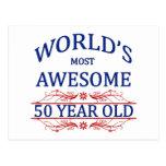 Años más impresionantes del mundo los 50 postal