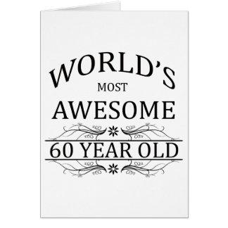 Años más impresionantes del mundo los 60 tarjeta de felicitación