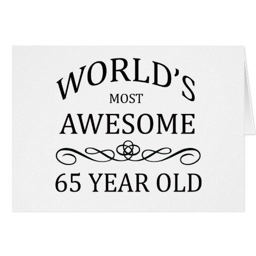 Años más impresionantes del mundo los 65 tarjeta de felicitación