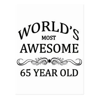 Años más impresionantes del mundo los 65 postal