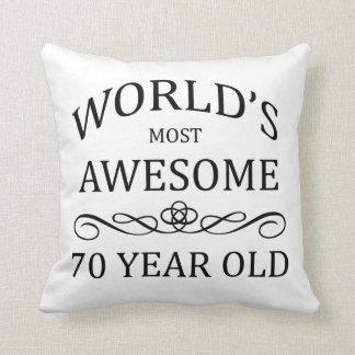 Años más impresionantes del mundo los 70 almohada