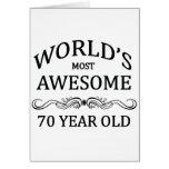 Años más impresionantes del mundo los 70 tarjeta de felicitación