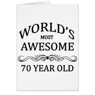 Años más impresionantes del mundo los 70 tarjeton