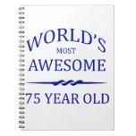 Años más impresionantes del mundo los 75 cuaderno