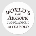 Años más impresionantes del mundo los 80 etiqueta redonda
