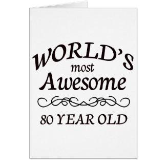 Años más impresionantes del mundo los 80 felicitación