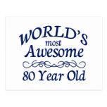 Años más impresionantes del mundo los 80 tarjetas postales