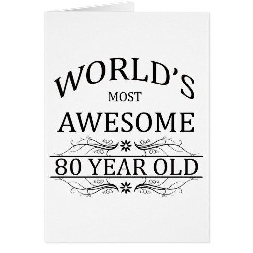 Años más impresionantes del mundo los 80 tarjeton