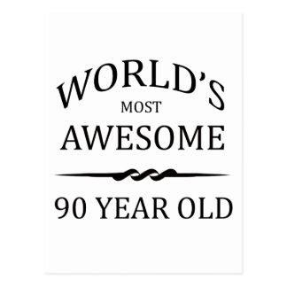 Años más impresionantes del mundo los 90 postal