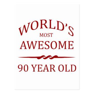 Años más impresionantes del mundo los 90 tarjeta postal