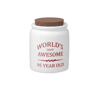 Años más impresionantes del mundo los 95. plato para caramelo