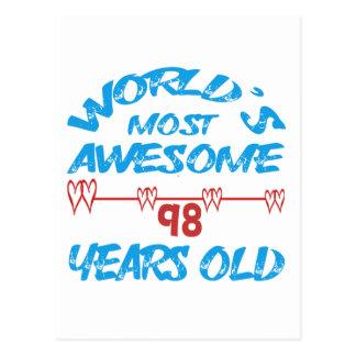 Años más impresionantes del mundo los 98 postal