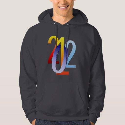 Años Nuevos 2012 camisetas Sudaderas