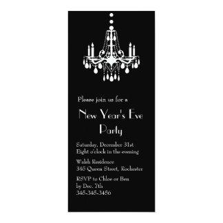 Años Nuevos bajo invitación de las luces (negro)