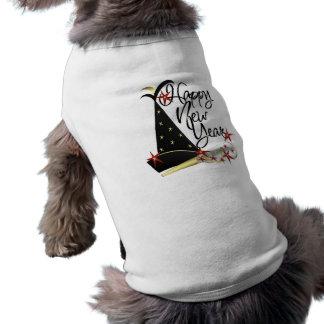 Años Nuevos de camisa del perro Playera Sin Mangas Para Perro