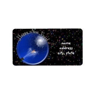 Años Nuevos de celebración de la supernova Etiqueta De Dirección