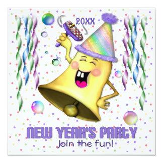 Años Nuevos de fiesta de Bell - personalizar Invitación 13,3 Cm X 13,3cm