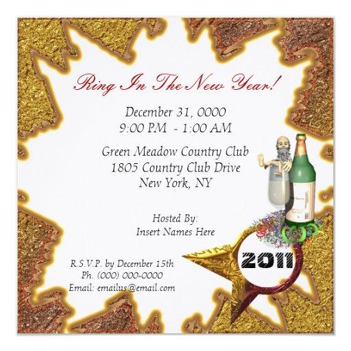 Años Nuevos de invitación del fiesta