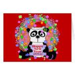 Años Nuevos de oso 2014 de panda Felicitacion
