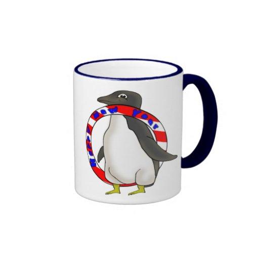 Años Nuevos de pingüino Taza De Dos Colores