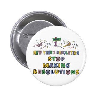 Años Nuevos de resolución Pins