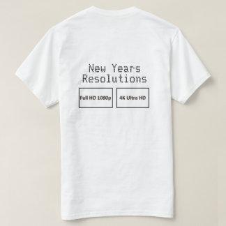 Años Nuevos de resoluciones HD 2 echadas a un lado Playera