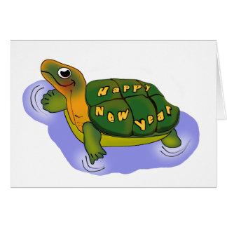 Años Nuevos de tortuga Tarjeta De Felicitación