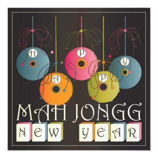 """Años Nuevos del Mah Jongg Invitación 5.25"""" X 5.25"""""""