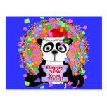 Años Nuevos del oso de panda Postales