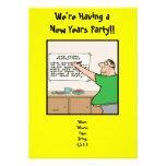 Años Nuevos divertidos de invitación del fiesta,