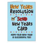 Años Nuevos divertidos de resolución - tarjetas de
