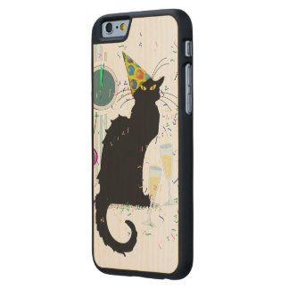 Años Nuevos Noir de la charla Funda De iPhone 6 Carved® De Arce