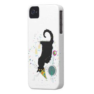 Años Nuevos Noir de la charla iPhone 4 Carcasas