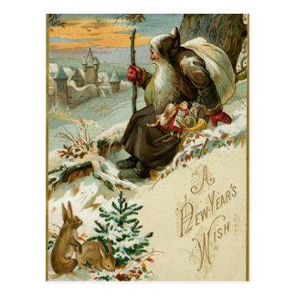 Años Nuevos Santa del vintage Postales